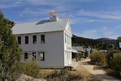École dans la ville fantôme argentée de ville, Idaho Etats-Unis Image stock