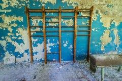 École dans la zone de Chernobyl Image stock