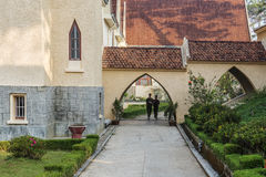 École de DES Oiseaux de Notre Dame du Langbianor Couvent Photographie stock libre de droits