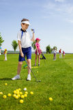 École de golf photos libres de droits