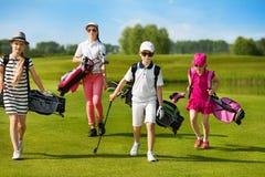 École de golf d'enfants images libres de droits