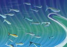 École de poissons Illustration Libre de Droits