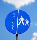 École de poteau de signalisation photos libres de droits