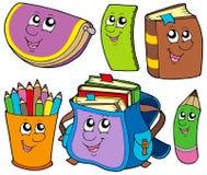 école de ramassage de 5 dos à illustration libre de droits