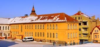 École de sport Paysage urbain typique de la ville Brasov, la Transylvanie Image libre de droits