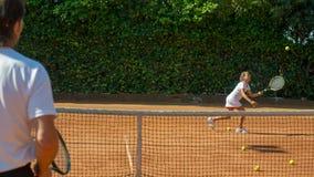 École de tennis Photos stock