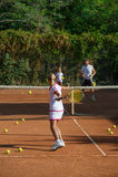 École de tennis Images stock