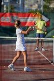 École de tennis Photographie stock libre de droits
