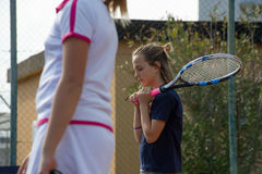 École de tennis extérieure Photo libre de droits