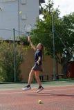 École de tennis extérieure Photos stock
