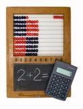 école des enfants s de calculatrice de panneau d'abaque Photos stock