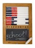 école des enfants s de panneau d'abaque Images libres de droits