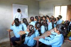 École et enfants indiens Images libres de droits