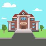 École Front View Vecteur Photos libres de droits