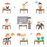 école Garçons et filles Photos libres de droits
