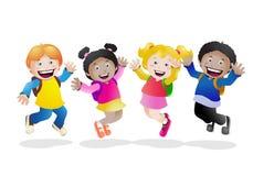 École heureuse Photos libres de droits