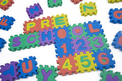 École maternelle et numéros Photos libres de droits