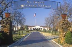 École militaire de rue John photos stock