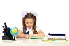 École primaire d'écolière Photo stock