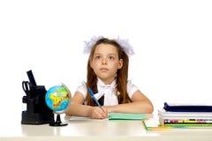 École primaire d'écolière Images stock