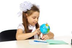 École primaire d'écolière Photos stock