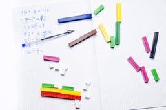 École primaire : exercices arithmétiques Image libre de droits