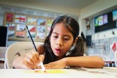 École primaire pour des pauvrex en l'Equateur. Photographie stock