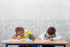 École primaire. Testez la leçon Photographie stock libre de droits