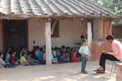 École rurale image libre de droits