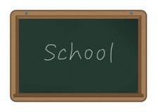 École sur un tableau Image stock