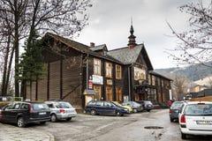 École technique d'industrie du bâtiment dans Zakopane Images libres de droits
