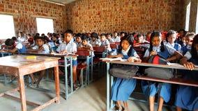 École tribale dans l'Inde Photos libres de droits