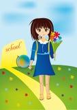 Écolière Illustration Stock