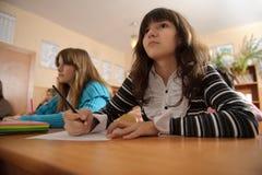 Écolière attentive Images libres de droits