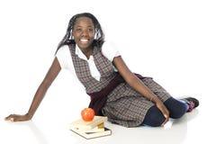 Écolière décontractée heureuse photos libres de droits