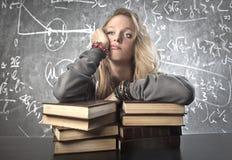 Écolière ennuyée Photographie stock