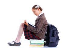 Écolière gaie Image stock