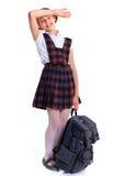 Écolière gaie Images stock