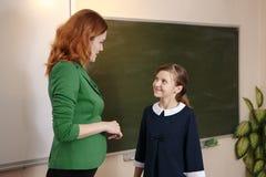 Écolière posant I Photo stock