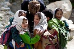 Écolières de Balti dans Ladakh, Inde Photos stock