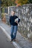 Écolier à l'extérieur Photo libre de droits