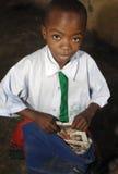 Écolier africain Photographie stock libre de droits
