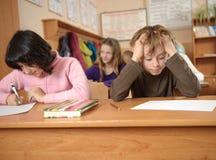 Écolier confus Image libre de droits