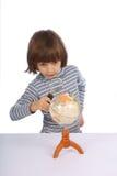 écolier de globe Images stock
