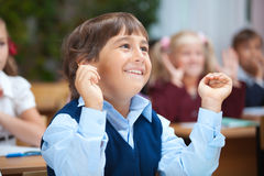 Écolier heureux Images libres de droits