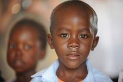 Écoliers africains Images libres de droits