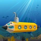 Écoliers appréciant la conduite submersible Und de crayon Images libres de droits