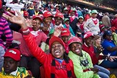 Écoliers au football - carte de travail 2010 de la FIFA Images libres de droits