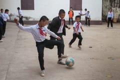 Écoliers au Laos Photographie stock libre de droits