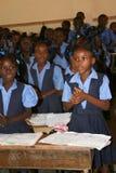 Écoliers en Petit Bourg de Port Margot, Haïti Images libres de droits